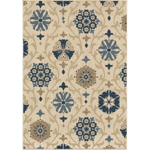 Dubuque Ivory/Blue Indoor/Outdoor Area Rug