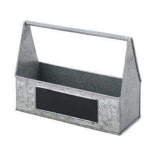 Galvanized Metal Picnic Basket