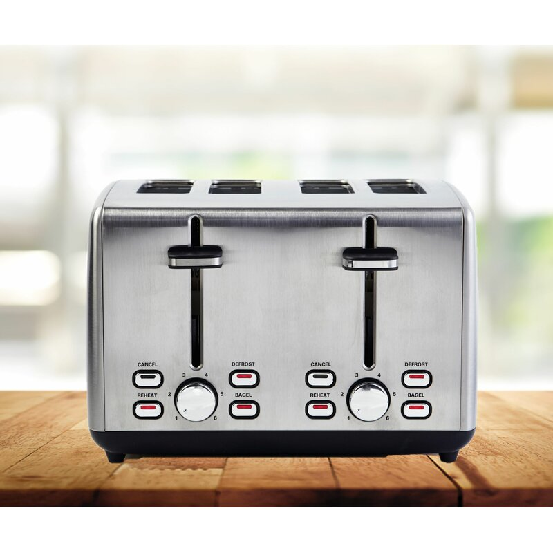 4 Slice Simon Extra Wide Toaster