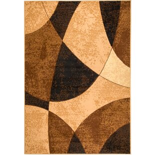 Great Price Lundberg Brown/Black Area Rug By Wrought Studio