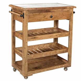 Barons Spacious/Sturdy Kitchen Island with Marble Top