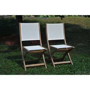 Providence Teak Patio Dining Chair (Set of 2)