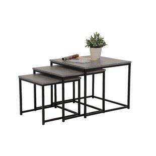 Review Guccione 3 Piece Coffee Table Set