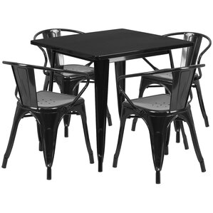 Markeshia 5 Piece Dining Set by 17 Stories