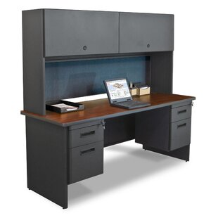 Crivello Lock Computer Desk with Hutch