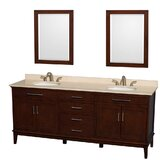 Hatton 80 Double Bathroom Vanity Set with Mirror by Wyndham Collection