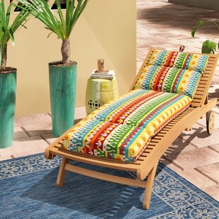 Indoor/Outdoor Spun Polyester Chaise Lounge Cushion