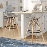 Siple Mid-Century Modern Retro 26.5 Bar Stool (Set of 2) by Latitude Run