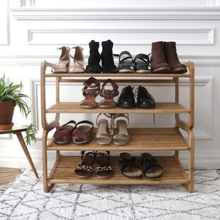 12 Pair Stackable Shoe Rack By Bay Isle Home