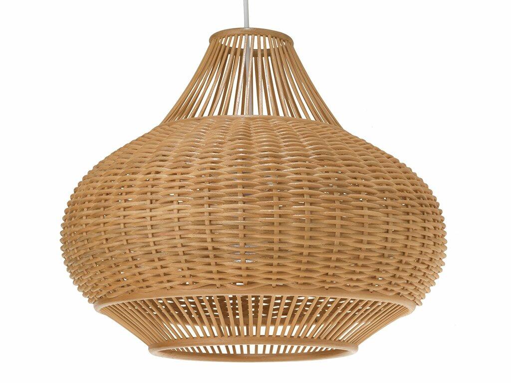 Wicker Pear 1-Light Pendant Lamp