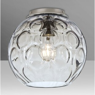 Besa Lighting Bombay 1-Light Outdoor Semi Flush Mount