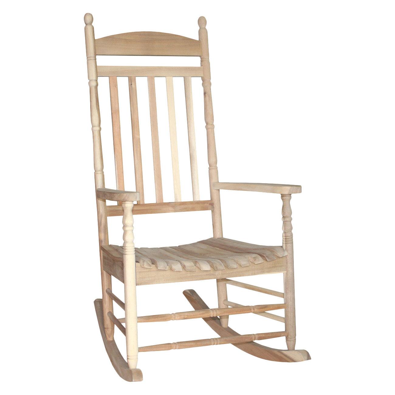 August Grove Rayane Solid Wood Rocking Chair U0026 Reviews | Wayfair