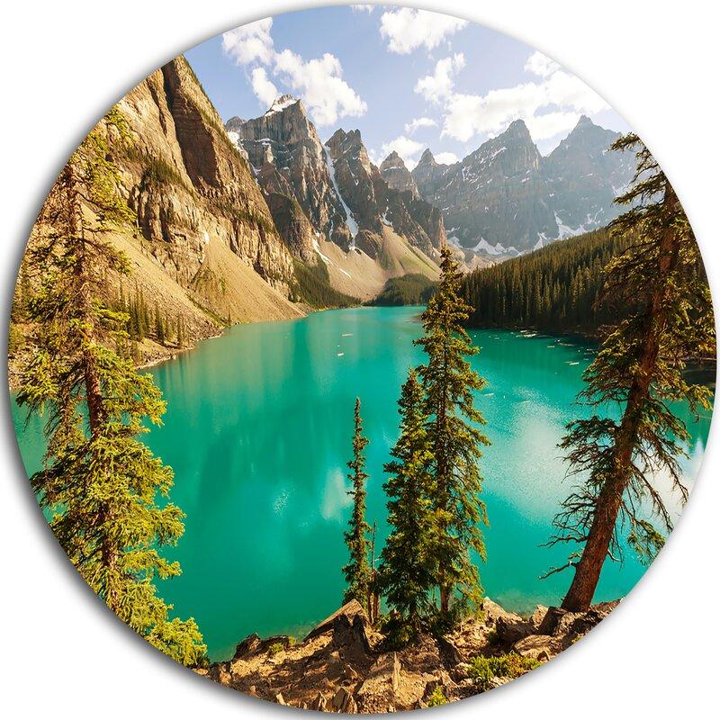 Designart Moraine Lake In Banff National Park Photographic Print On Metal Wayfair