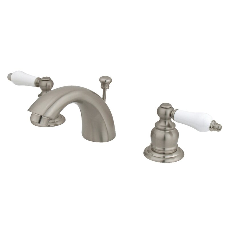 Oil Rubbed Bronze Kingston Brass KB955PL Mini Widespread Lavatory Faucet and Pop-Up