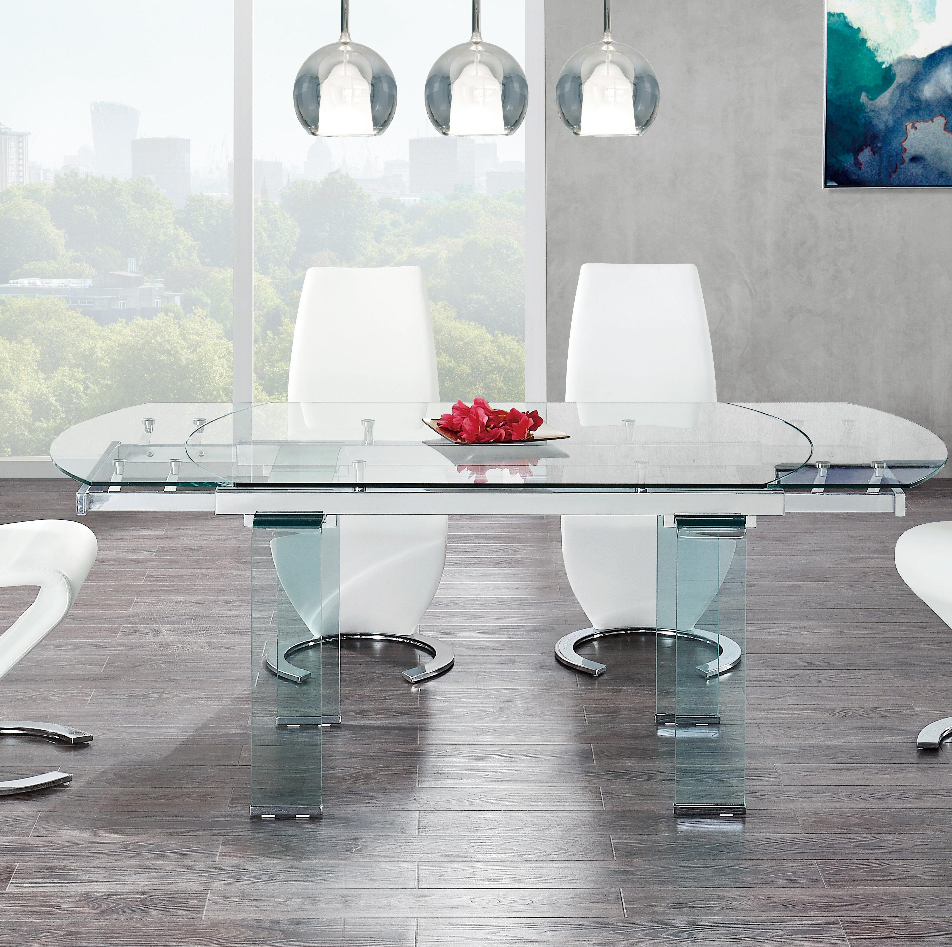 Wade Logan Wilcox Extendable Dining Table Reviews Wayfair Ca