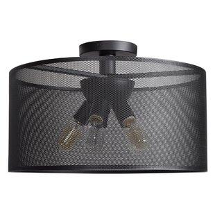 Brayden Studio Lacey Round 5-Light Semi Flush Mount