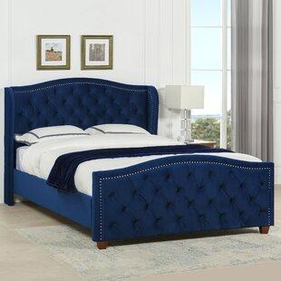 Sasu Kingsize (5') Upholstered Platform Bed By Rosalind Wheeler