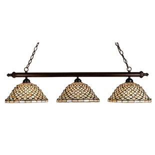 Best Reviews Tiffany Diamond and Jewel 3-Light Pool Table Light By Meyda Tiffany