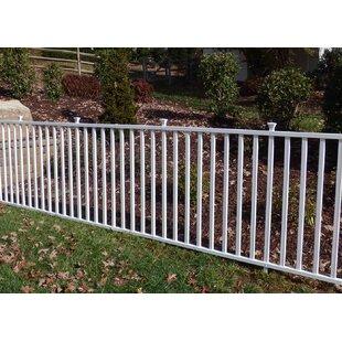 Captivating 4u0027 X 7u0027 Birkdale Semi Permanent Vinyl Garden Fence