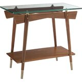 Craftsman Glass Top End Table with Storage by Caracole Modern