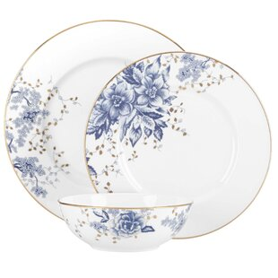 Garden Grove Bone China 3 Piece Place Setting, Service for 1