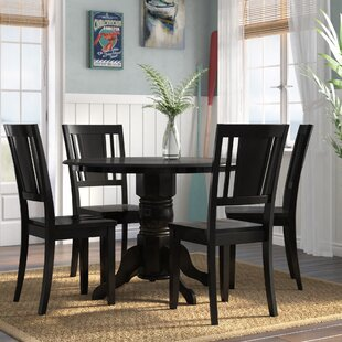Langwater 5 Piece Solid Wood Dining Set b..