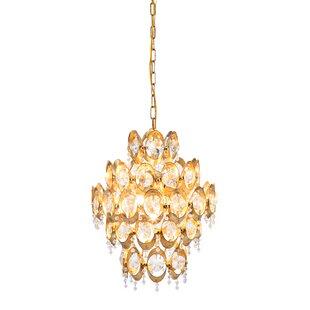 House of Hampton Delmy 4-Light Crystal Chandelier