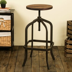 Tamie Adjustable Height Swivel Bar Stool Williston Forge