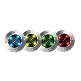Bell + Howell Solar Powered Step Light (Set of 4)