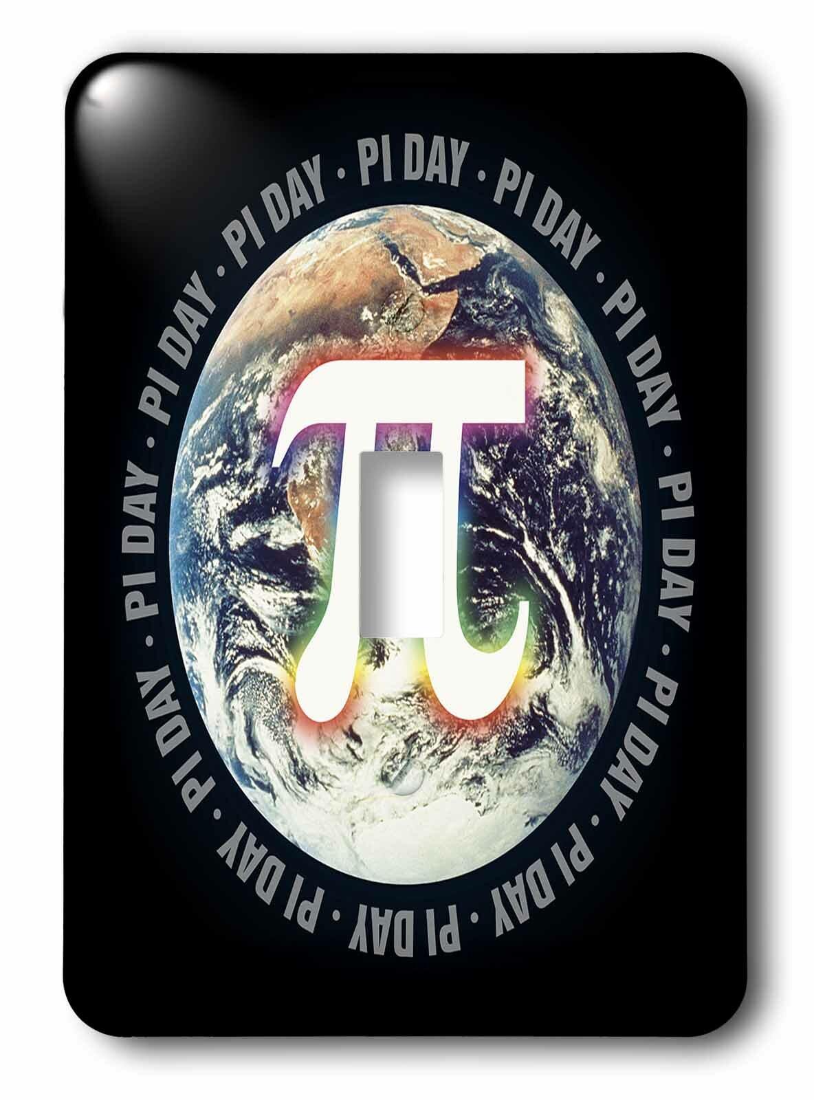 3drose Pi Day On Earth Symbol On Background Single Toggle Light Switch Wayfair