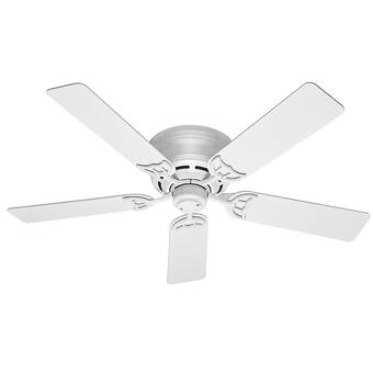 Hunter Fan 52 Low Profile Iii Plus 5 Blade Flush Mount Ceiling Fan With Pull Chain And Light Kit Included Reviews Wayfair