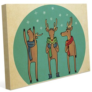 'Reindeer Games Team' Graphic Art on Wrapped Canvas