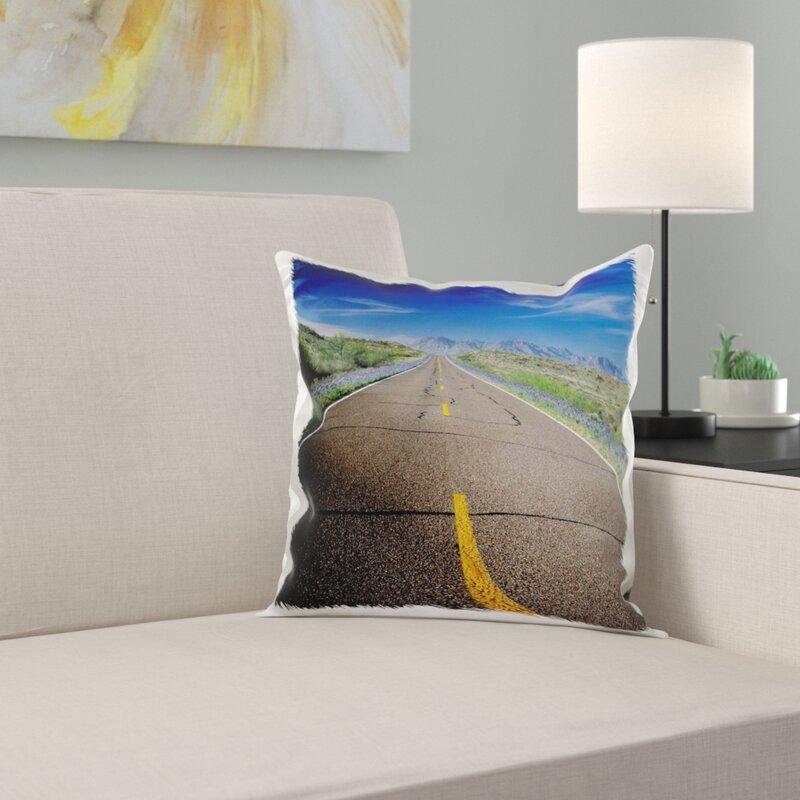 East Urban Home Park Road Bluebonnets Big Bend Np Texas Pillow Wayfair