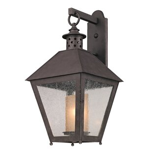Longshore Tides Dinerstein 1-Light Hand-Forged Iron Outdoor Wall Lantern
