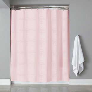 Affordable Price Aarav Embossed Shower Curtain By House of Hampton