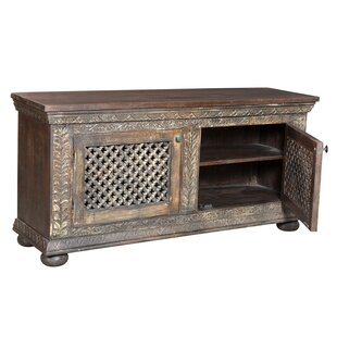 Hindsville Carved Media Cabinet TV Stand