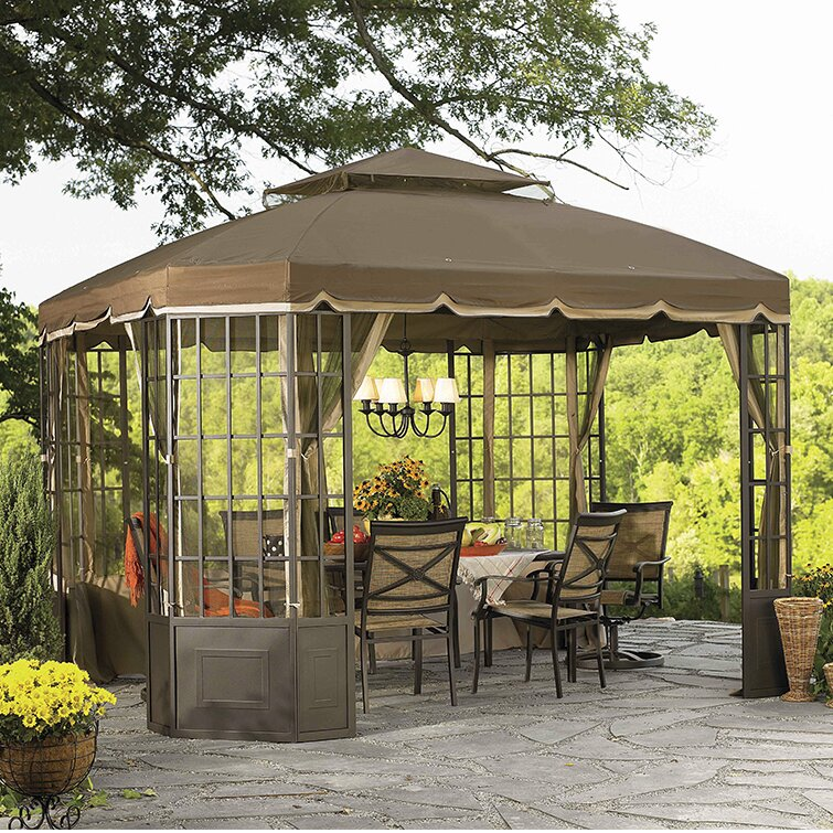 Replacement Canopy for Go Bay Window Gazebo & Sunjoy Replacement Canopy for Go Bay Window Gazebo u0026 Reviews | Wayfair