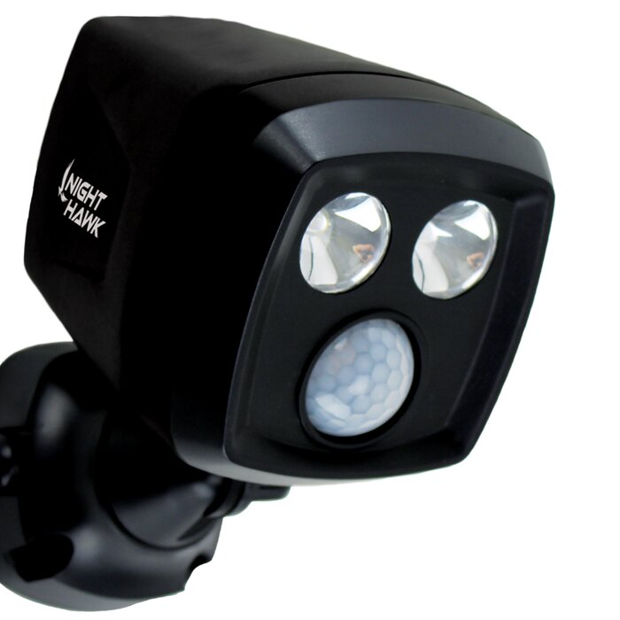 LED Battery Operated Outdoor Security Spotlight with Motion Sensor