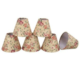 6 Fabric Empire Candelabra Shade (Set of 6)