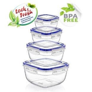 4 Piece 2.98 Qt. Food Storage Container