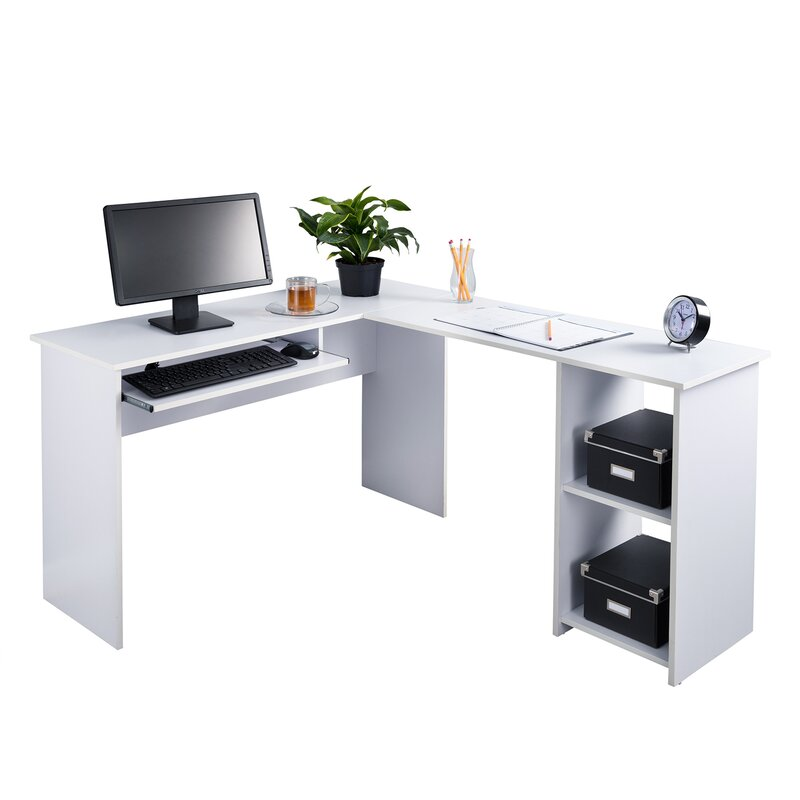 Fineboard Corner Keyboard Tray L Shaped Computer Desk Wayfair