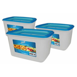 1.3 Gallon Food Storage Container (Set of 3)
