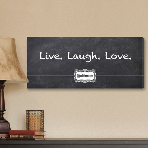 Jds Personalized Gifts Personalized Gift Live Laugh Love Chalkboard Textual Art On Canvas Reviews Wayfair