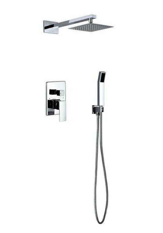 Kube Bath Aqua Piazza Diverter Complete Shower System with Lever ...