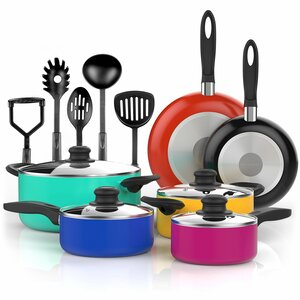15 Piece Non-Stick Cookware Set