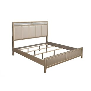 Lamb Upholstered Wood Panel Bed