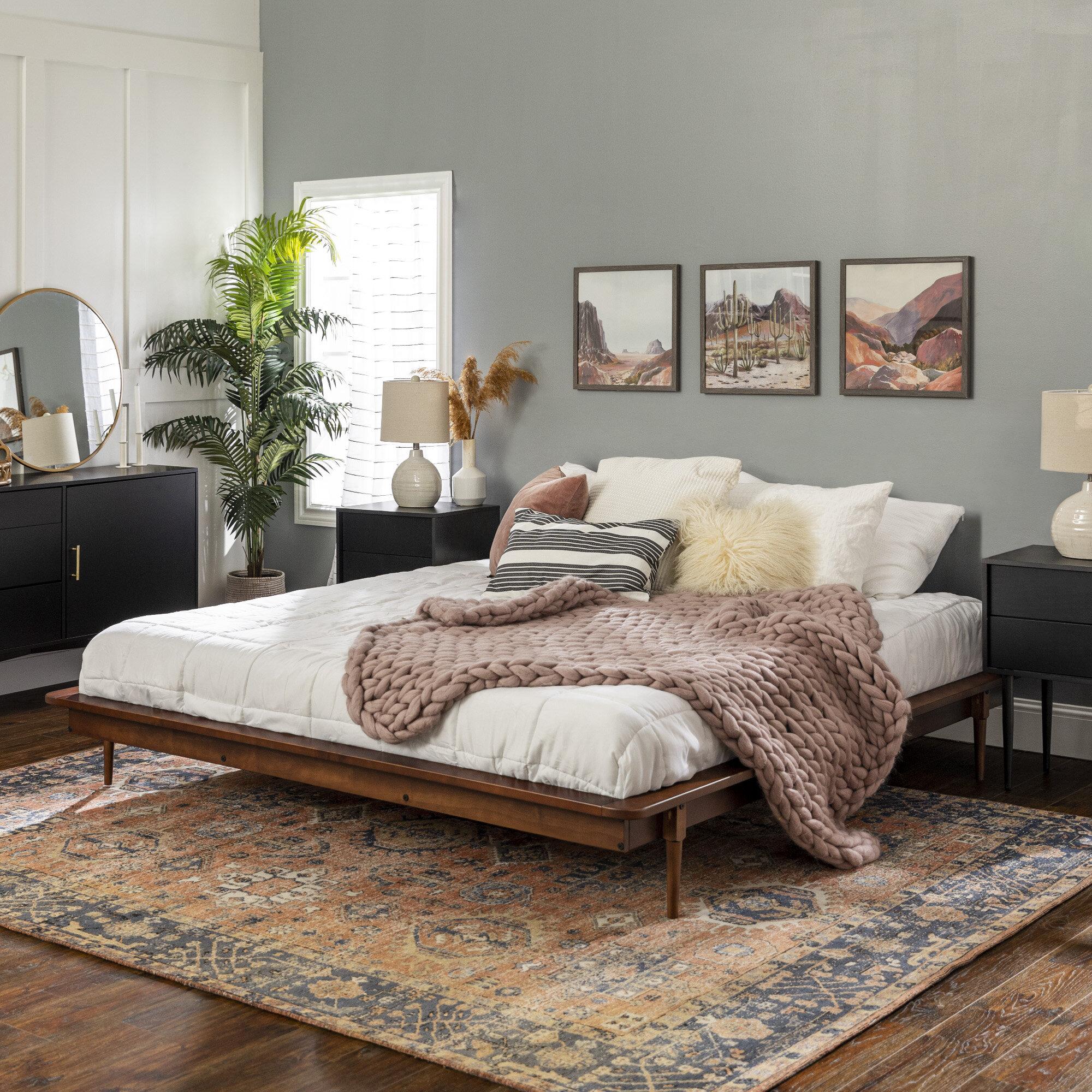 Allmodern Dorinda King Solid Wood Low Profile Platform Bed Reviews Wayfair