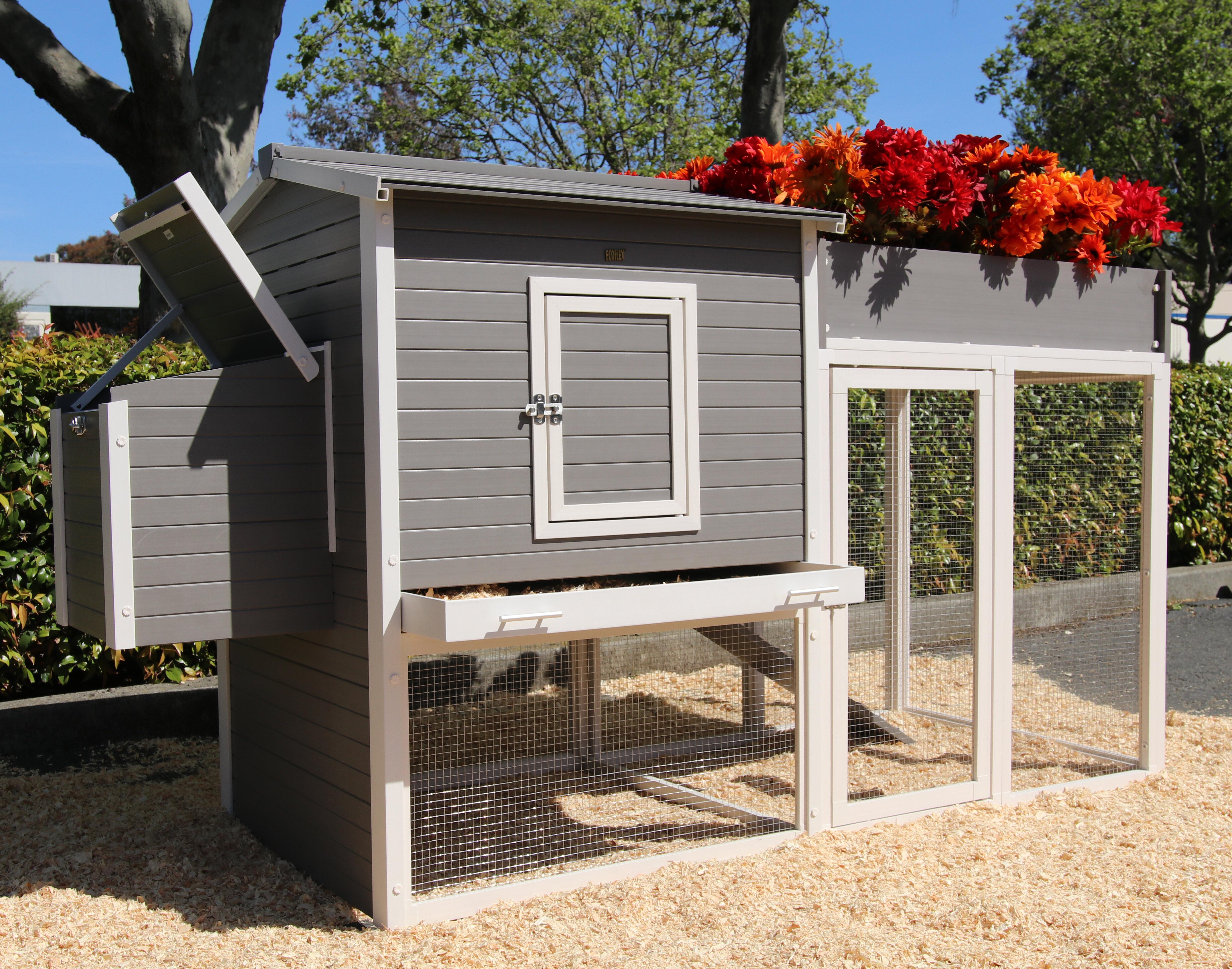 Tucker Murphy Pet Josepha Chicken Coop With Rooftop Garden | Wayfair