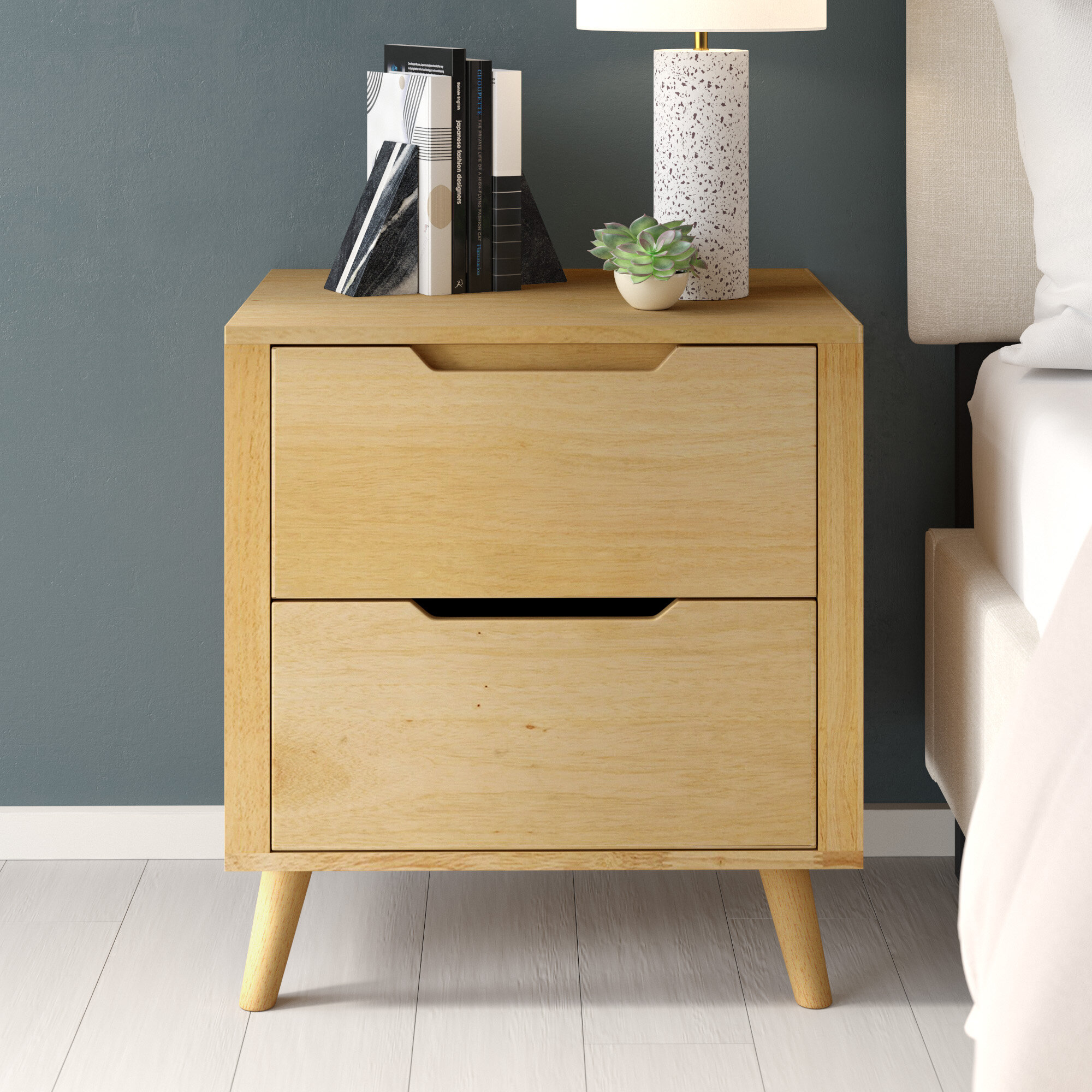 Hickok 2 Drawer Nightstand In Blonde Allmodern
