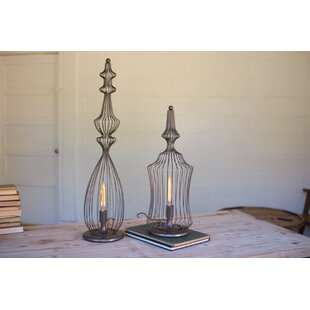 Wire cage lamp wayfair short wire finial 925 table lamp greentooth Gallery